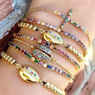 Fashion personality marine wind ins zircon bracelet NHAS136998