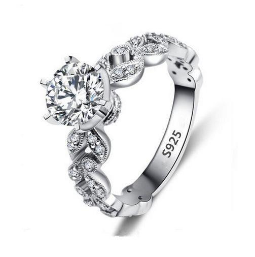 Fashion Tree Leaf Super Flash Zircon Ring NHQL137000