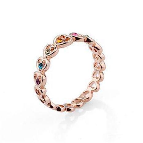 Anillo de cristal en forma de corazón de diamantes. NHLJ137004's discount tags