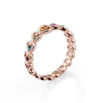 Fashion rhinestone heart-shaped imitated crystal ring NHLJ137004