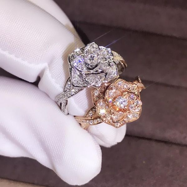 Fashion 18K Rose Alloy Rhinestone Ring NHQL137006