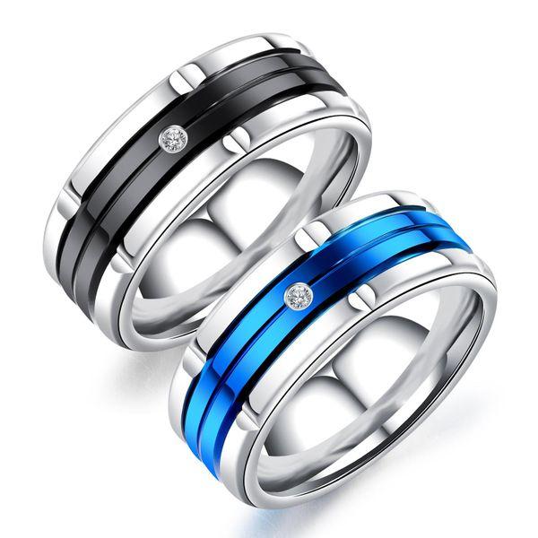 Trend line cut color steel rhinestone ring NHOP137011