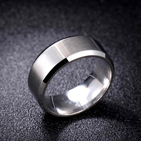Steel brushed matte scratch-resistant stainless steel ring NHIM137012's discount tags