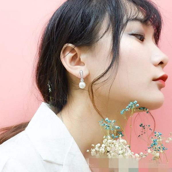 Fashion 14K Alloy Titanium Steel Cast Beads Earrings NHOK137015