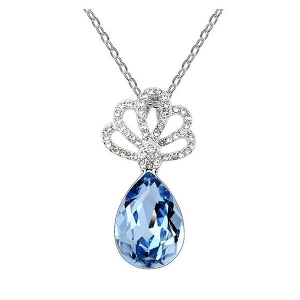 Korean fashion alloy imitated crystal alloy necklace NHLJ137017