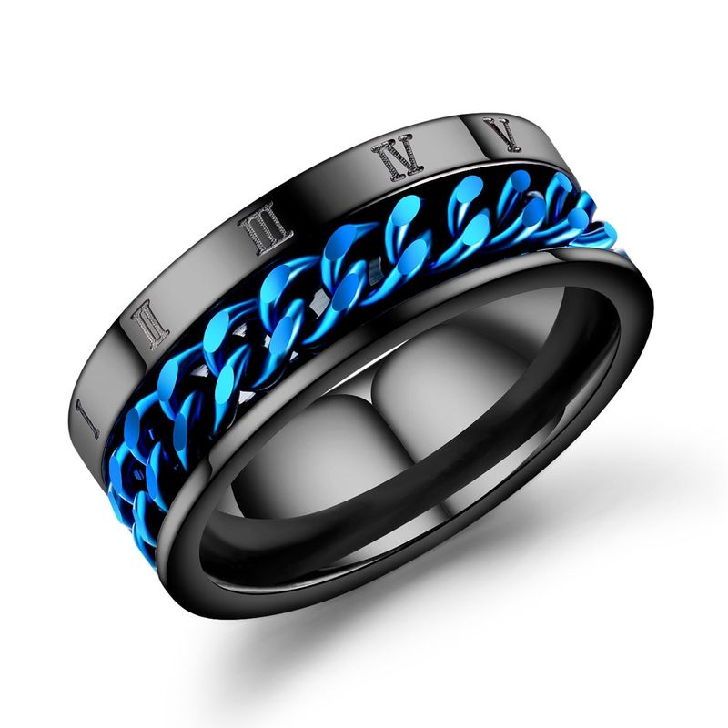 Mens Geometric Plating Titanium Steel Rings NHOP137025