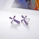 Jesus Cross Austria Imitated crystal 925 Sterling Alloy Stud Earrings NHLJ136878