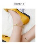 Round Card Square Lettering English Alphabet Anklet Bracelet NHOK137026