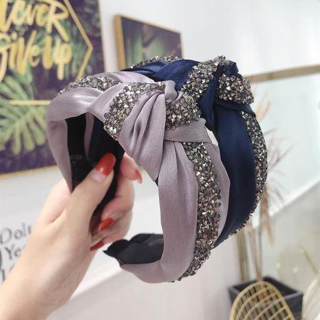 Fashion solid color super flash rhinestone wide-brimmed headband NHSM137140's discount tags