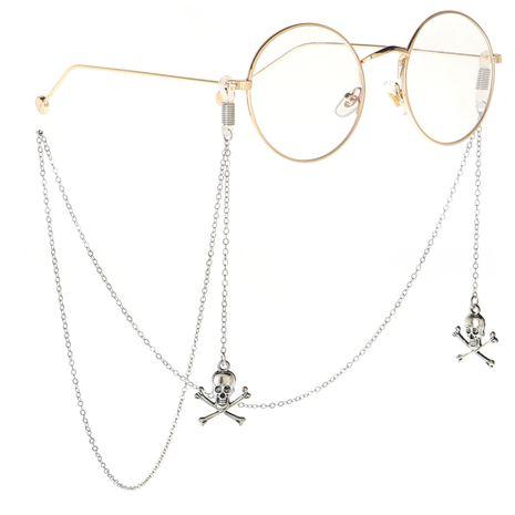 Alloy skeleton cross handmade glasses chain NHBC137224's discount tags