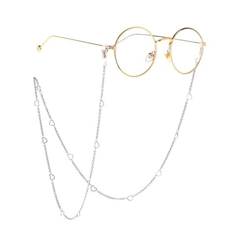 Stainless steel heart handmade chain glasses chain NHBC137229's discount tags