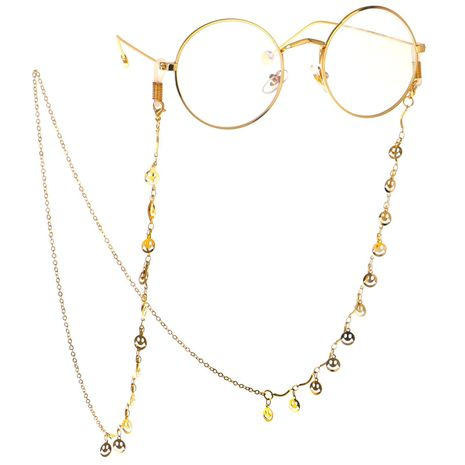 Fashion smiley fringed glasses chain alloy NHBC137230's discount tags