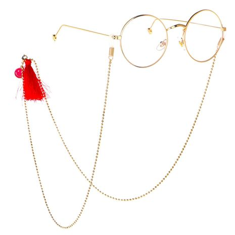 Fringed smiley sunglasses chain NHBC137243's discount tags