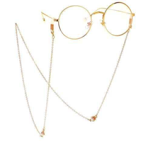 Fashion chain alloy beads glasses chain NHBC137244's discount tags