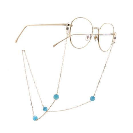Fashion Chain Blue Cat Eyeball Chain NHBC137246's discount tags