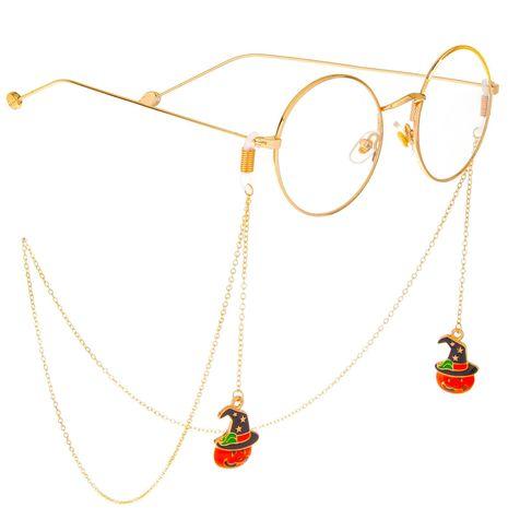 Halloween Pumpkin Hat Handmade Glasses Chain Alloy NHBC137251's discount tags