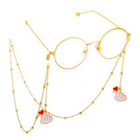 Fashion chain than heart handmade glasses chain NHBC137262's discount tags