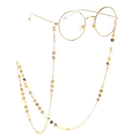 Alloy disc handmade glasses chain NHBC137265's discount tags