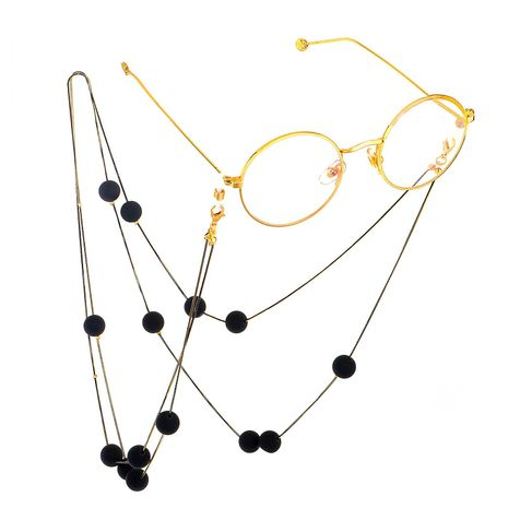 Black matte beads double layer glasses chain NHBC137264's discount tags