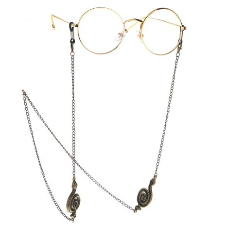 Bronze snake-shaped handmade glasses chain NHBC137266's discount tags