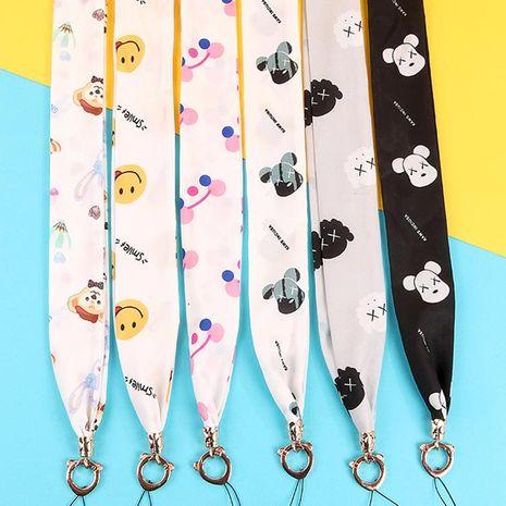 Cartoon fabric lanyard universal Korean wind scarf hand rope hanging NHJP137270's discount tags
