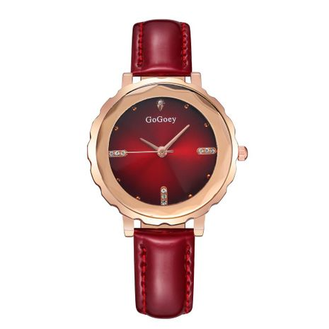 Korean version of the rhinestone mirror bright belt large dial quartz watch NHSY137340's discount tags