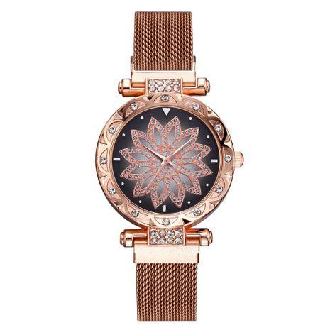 Stylish quartz watch with rhinestones NHSY137341's discount tags
