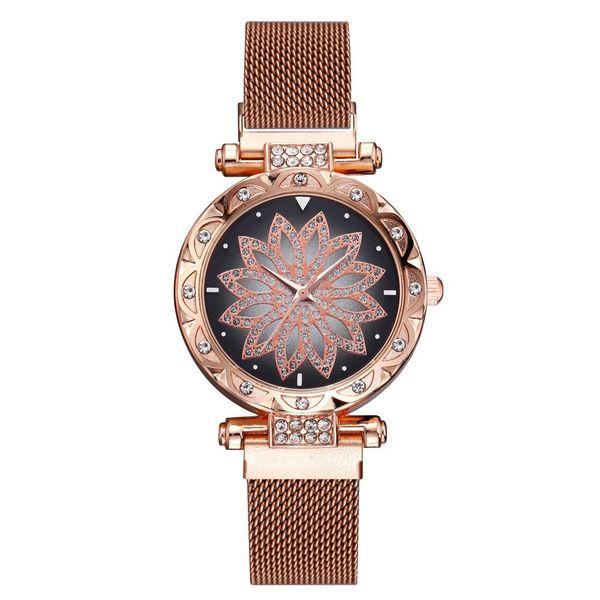 Stylish quartz watch with rhinestones NHSY137341