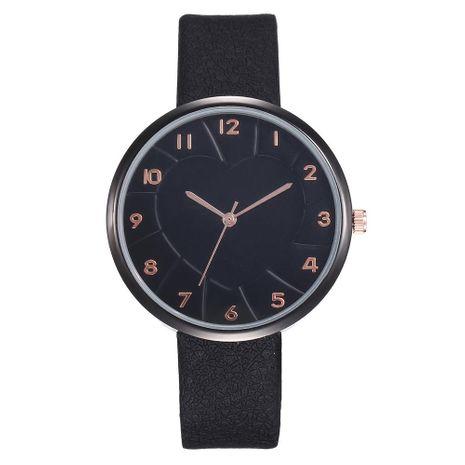 Fashion creative heart digital oil pressure surface student evil black quartz watch NHHK137473's discount tags