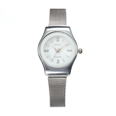 Simple stainless steel mesh belt with fine strap quartz watch NHHK137474's discount tags