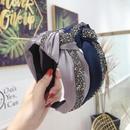 Fashion solid color super flash rhinestone widebrimmed headband NHSM137140
