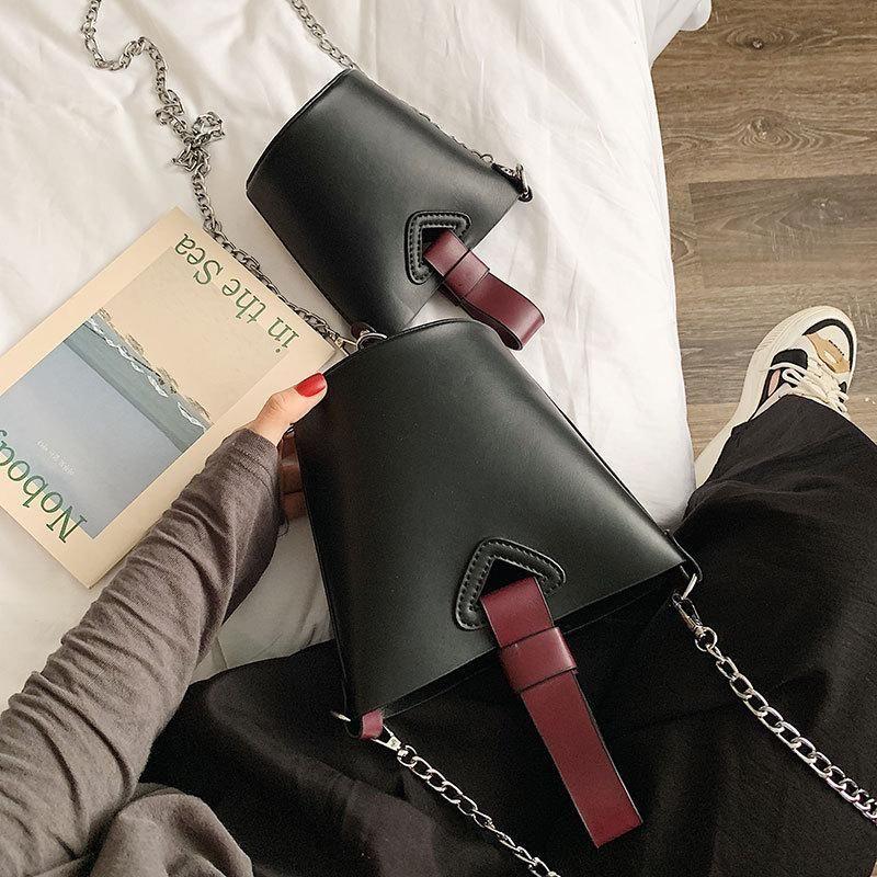 Korean version of the texture chain portable bucket bag NHTC137750