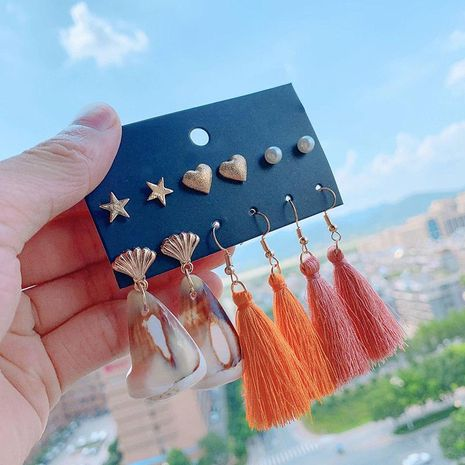Womens Geometry Electroplating Alloy Earrings NHSD137783's discount tags