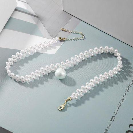 Womens geometric imitation beads Choker NHLL137828's discount tags