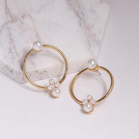 Pendientes de perlas de aleación atmosférica simple. NHJJ137820's discount tags