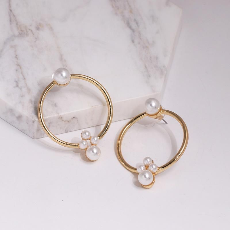Simple atmospheric alloy beads earrings NHJJ137820