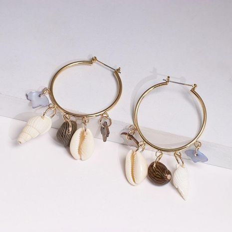 Seaside holiday shell conch earrings earrings NHJJ137847's discount tags
