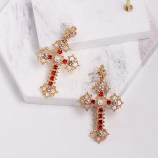 Fashion court style retro rhinestone stud earrings NHJJ137889's discount tags