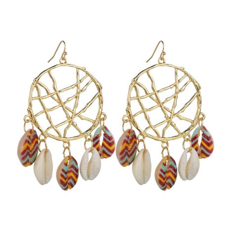 Fashion simple dream catcher shell alloy earrings NHBQ137896's discount tags
