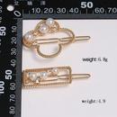 Sleek minimalist beads bow hair accessory NHJJ137985