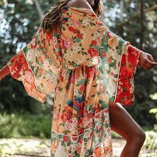 Explosion models chiffon loose sun protection clothing beach coat cardigan NHXW130743's discount tags