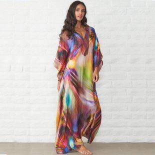 Loose large size beach dress long skirt bikini NHXW130754's discount tags