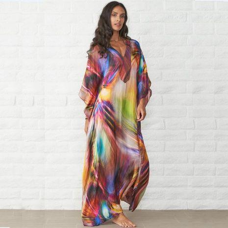 Suelta gran tamaño vestido de playa falda larga bikini NHXW130754's discount tags