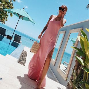 Fashion sexy backless dress NHDF130837's discount tags