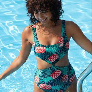 Sexy pineapple one-piece bikini NHHL130847's discount tags