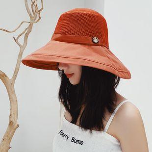 Versión coreana del sombrero de pescador salvaje grande protector solar NHTZ130942's discount tags