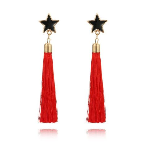 Fashion colorful multi-color long tassel earrings NHGY138176's discount tags