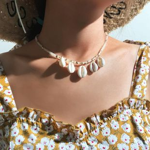 Fashion rice beads natural shell necklace NHNZ138179's discount tags