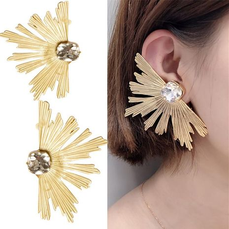 Fashion alloy anti-drill alloy large fan earrings NHNT138209's discount tags