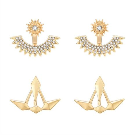Simple rhinestone-shaped front hanging rhinestone stud earrings NHXS138218's discount tags